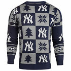 Forever Collectibles MLB Baseball Mens New York Yankees Patches Ugly Sweater on Ebay