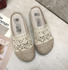 Spring new sweet beauty shoes bow breathable casual flat bottom half cool drag