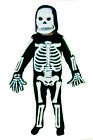 Childrens 3D Skeleton Fancy Dress Costume Boys Halloween Party Outfit + Mask