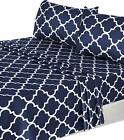 3Pc Print  Bed Sheet Set 1 Fitted Sheet 1 Flat Sheet 1 Pillowcase Utopia Bedding
