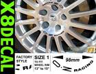 """Wheel Centre Decal sticker to fit OZ Racing 13""""-16in wheel x8 various colours"""