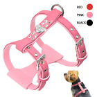 Soft Suede Leather Small Dog Harness Bling Rhinestone Pet Puppy Vest Schnauzer
