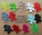 3x Voodoo Doll Laser Cut Acrylic Charms/pendants/ Cabochons/ Jewellery Making