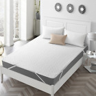 New Quilted Fitted Mattress Pad Non-Skid Washable Waterproof Bed Sheet Protector image