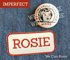 Rosie patch iron on Rosie the Riveter iron on collar pin costume