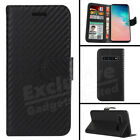 For Samsung Galaxy S10e S8 Plus 360 Shockproof Carbon Fiber Wallet Case Cover