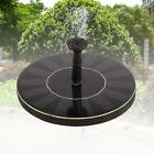 Solar Powered Bird Bath Fountain Pump Outdoor Water Fountains for Pool Garden FZ