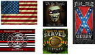 "Fleece Throw Blanket 50"" x 60"" Military Army Marines American Flag Patriotic USA image"