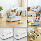 Desktop Grid Cosmetics Makeup Container Bathroom Organizer Office Storage Box US