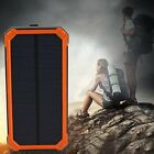Waterproof 300000mAh Portable Solar Charger Dual USB Battery Power Bank F PhondE