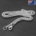 Wholesale Price Stainless Steel Silver Wheat Braided Chain Necklace Men's Gift