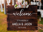 Personalised Wedding Names Date Party Welcome Sign Vinyl Decal Sticker V457