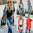Fashion Women Boho Floral Loose Shawl Kimono Cardigan Top Cover up Blouse US
