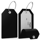 Внешний вид - Shacke Luggage Tags with Full Back Privacy Cover w/Steel Loops - Set of 2