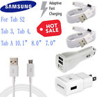 "OEM Samsung Galaxy Tab A 10.1 4 7.0 8.0 S2 9.7"" Car Wall Adapter Charger + Cable"