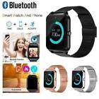 Bluetooth Android Smart Watch Wrist Steel Band Phone GSM SIM Mate Waterproof