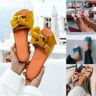 Womens Slides Bow Flat Sandals Comfortable Beach Open Toe Slippers GIFT