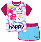 Girls Trolls Set T-shirt and Shorts 2 Pieces Outfit New Age 2 3 4 5 6 7 Years