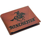 Winchester Mens Passcase Bifold Wallet RFID Blocking Full Grain Genuine Leather