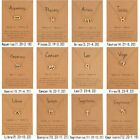12 Constellation Symbol Zodiac Signs Pendant Necklace Choker Card Paper Women