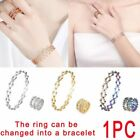 Hot Silver Filled Women Wedding Rings Engagement Elegant Jewellery Ring Size 7-9