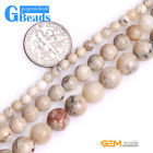 """Natural Cream White African Opal Round Stone Spacer Beads for Jewelry Making 15"""""""