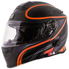 Torc T28B Modular Bluetooth Motorcycle Helmet - Black Vapor Orange - CHOOSE SIZE