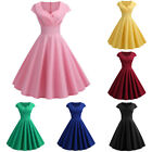 Women Vintage 50s Formal Wedding Cocktail Evening Party Rockabilly Swing Dress