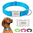 Nylon Personalised Dog Collars Reflective Custom Pet Name ID Collar Heavy Duty