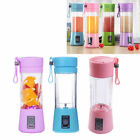 380ml Mini USB Rechargeable Thrilling Juicer Bottle Fruit Blender Mixer w/ 2 Vane