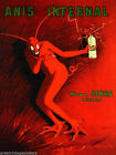 190729 ANIS INFERNAL MIGUEL SERRA RED DEVIL ALCOHOL Wall Print Poster UK