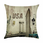 Home DecorFamous building Print pillow case cover sofa car waist cushion cover