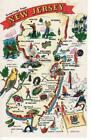 186891 COOL NEW JERSEY STATE MAP DEVILS NETS Print Poster Affiche on eBay