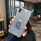 Devil Horn Glitter Soft TPU 3D Phone Case Cover For Samsumg Galaxy S8/S9/S10/S8+