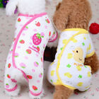 New Pet Dog Clothes Cotton Cute Printing Four Feets Coat Pajamas h8
