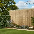 Waltons Garden Peeled Reed Screening Screen Roll 4m Long Panel Outdoor Fence New