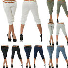 Women's Treggings  Capri Trousers Summer Pants Slim Fit Calf Length GIFT