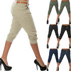 Womens Solid Loose Pants Cotton Baggy Pants Elastic Waist Casual Trousers gift
