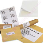 10 25 50 200 2000 5000 SHEETS OF A4 PLAIN WHITE PEEL OFF LABELS - 6 PER PAGE