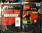 4 pack hanes mens v neck t shirts colors black & gray choose your size & color image