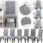 1/2PCS Dining Room Chair Cover Removable Washable Stretch Seat Cover Slipcovers