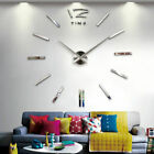 DIY Modern Large Wall Clock 3D Mirror Sticker Unique Big Number Watch Decor LOTS