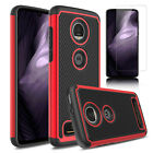 For Motorola Moto Z4 2019 Shockproof Phone Case Cover+Glass Screen Protector HD