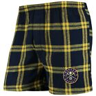 Concepts Sport Denver Nuggets Navy Homestretch Flannel Boxer Shorts on eBay