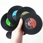 Retro Vinyl CD Album Record Drink Coaster Bar Table Glass Cup Skid Mat Holder B9