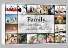 Family Collage personalised Box Canvas Wall Art 3.8cm chunky frame ready to hang