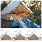Bell Tent 4-Season 3m4m5m6m7m Sibley Tent Waterproof Cotton Canvas Glamping Yurt