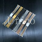 13 19 20 21 MM Steel Watch Band Strap Clasp Bracelet Curved Fits Rolex Jubilee image