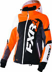 FXR Womens Black/Electric Tangerine/White Tri Revo X Insulated Snowmobile Jacket
