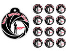 James Bond Agent 007 Birthday Party Gift Tags Round Labels Stickers Vinyl $11.0 USD on eBay